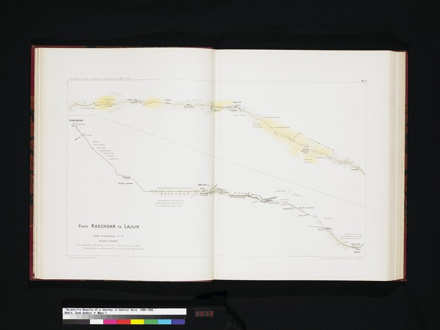 Scientific Results of a Journey in Central Asia, 1899-1902 : vol.7 / 18 ページ(カラー画像)
