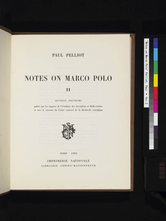Notes on Marco Polo : vol.2 / 11 ページ(カラー画像)