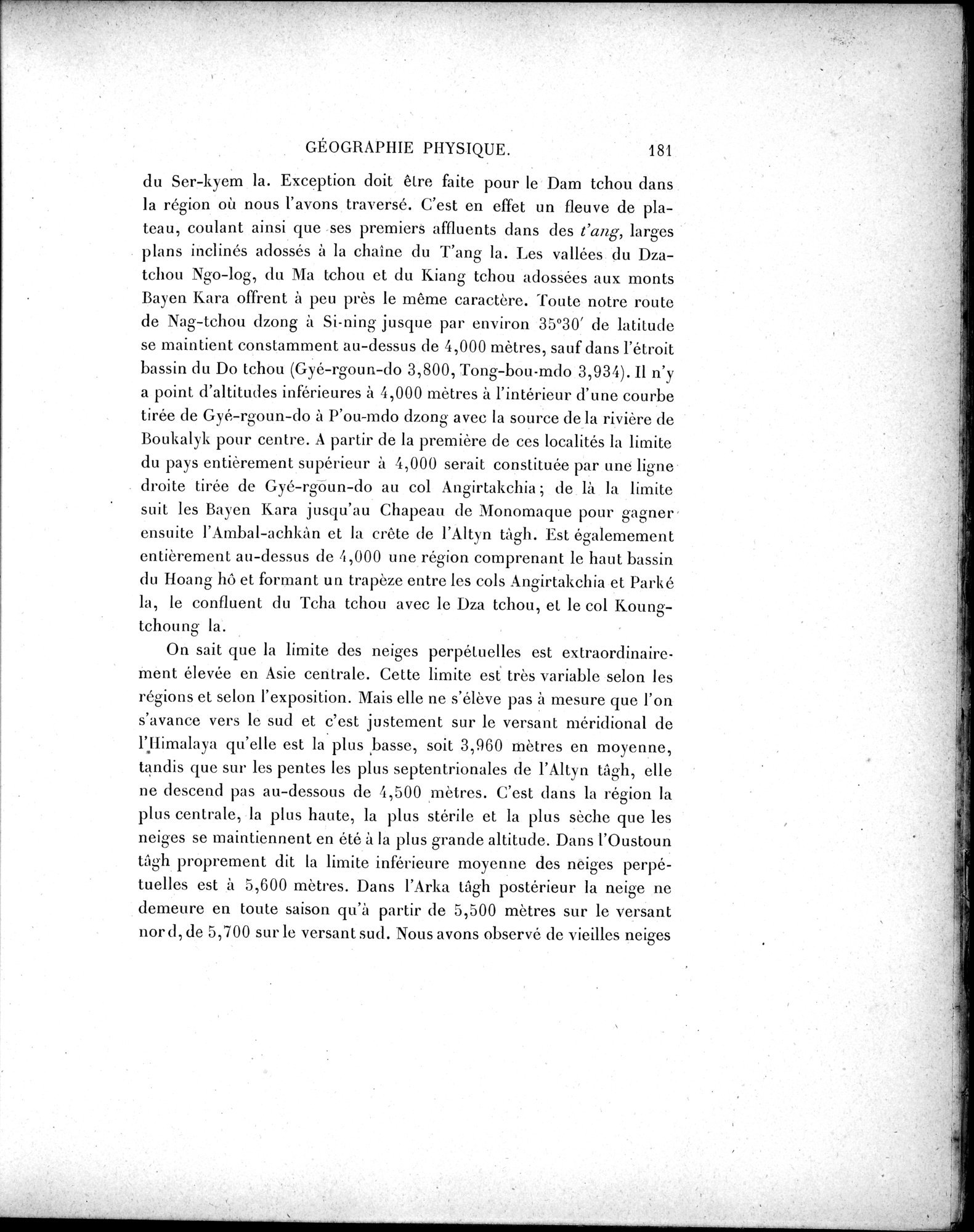 Mission Scientifique dans la Haute Asie 1890-1895 : vol.3 / Page 199 (Grayscale High Resolution Image)