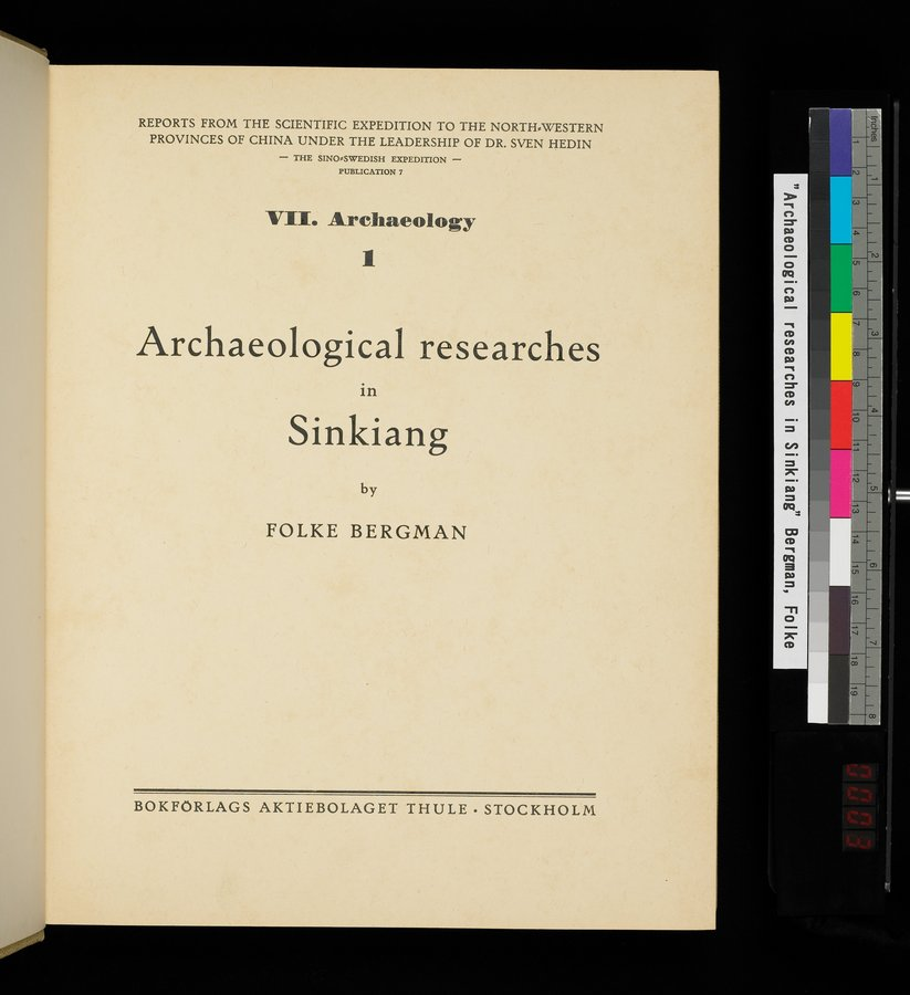 Archaeological Researches in Sinkiang : vol.1 / Page 5 (Color Image)
