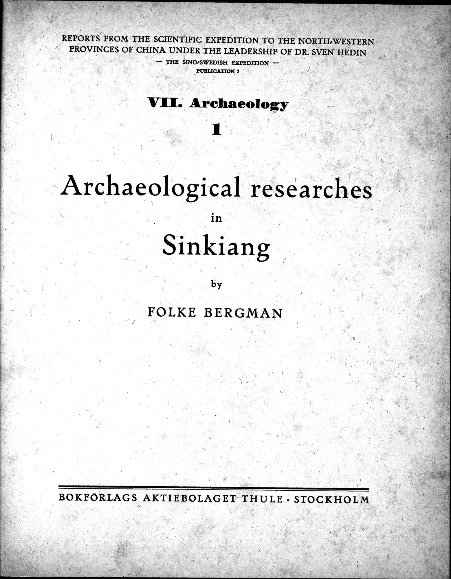 Archaeological Researches in Sinkiang : vol.1 / Page 5 (Grayscale High Resolution Image)