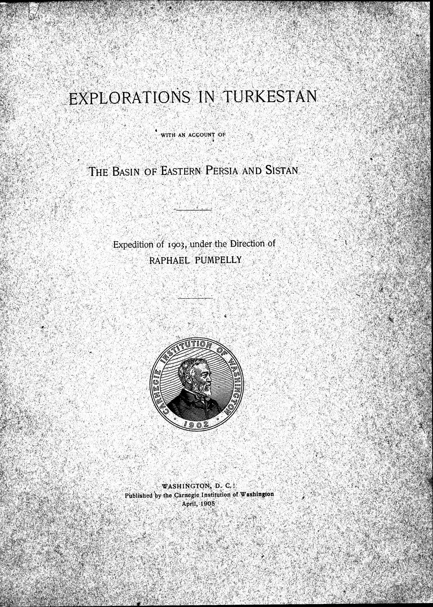 Explorations in Turkestan 1903 : vol.1 / Page 7 (Grayscale High Resolution Image)