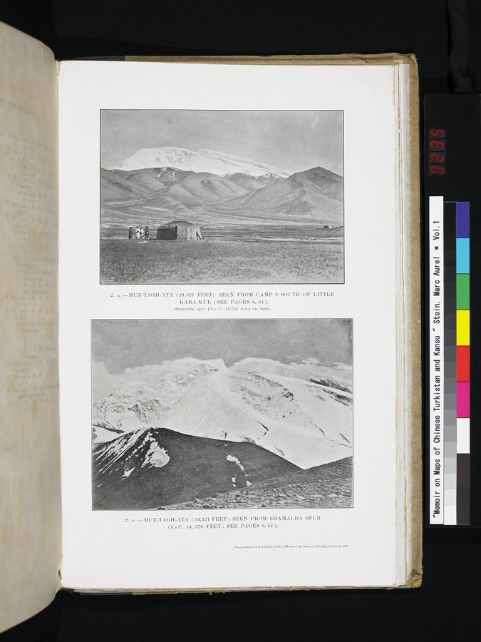 Memoir on Maps of Chinese Turkistan and Kansu : vol.1 / 235 ページ(カラー画像)