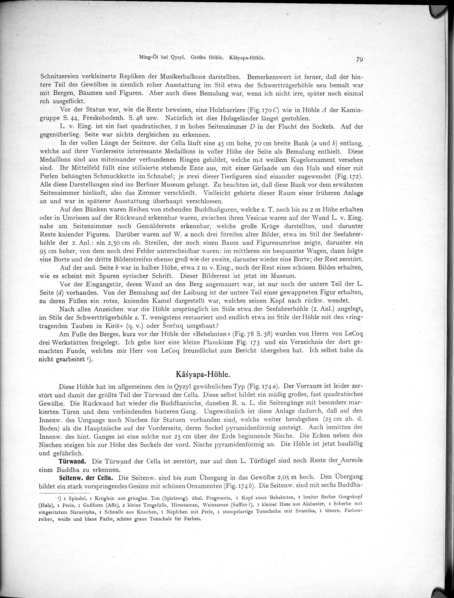 Altbuddhistische Kultstätten in Chinesisch-Turkistan : vol.1 / Page 85 (Grayscale High Resolution Image)