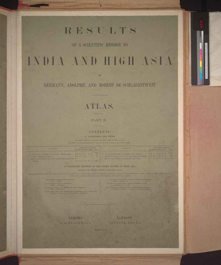 Results of a Scientific Mission to India and High Asia : vol.5 / Page 34 (Color Image)