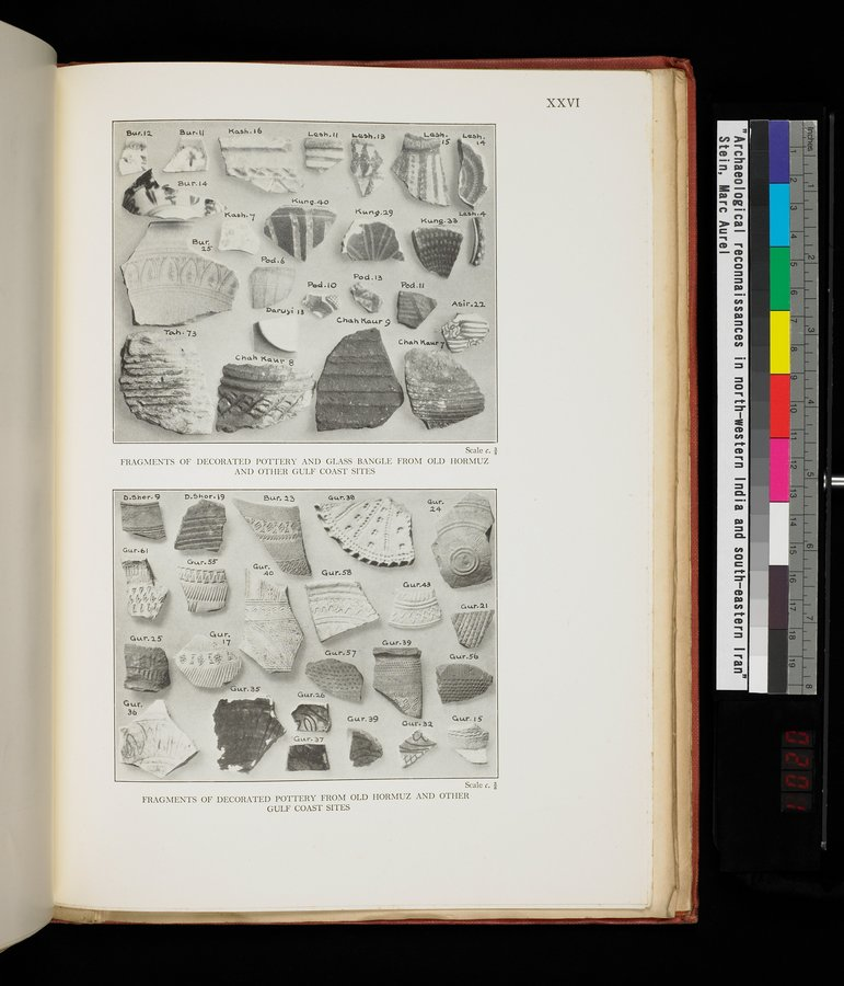Archaeological Reconnaissances in North-Western India and South-Eastern Īrān : vol.1 / Page 403 (Color Image)