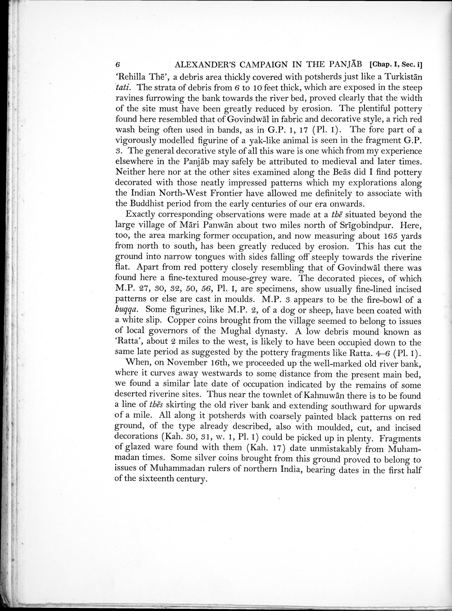 Archaeological Reconnaissances in North-Western India and South-Eastern Īrān : vol.1 / Page 30 (Grayscale High Resolution Image)