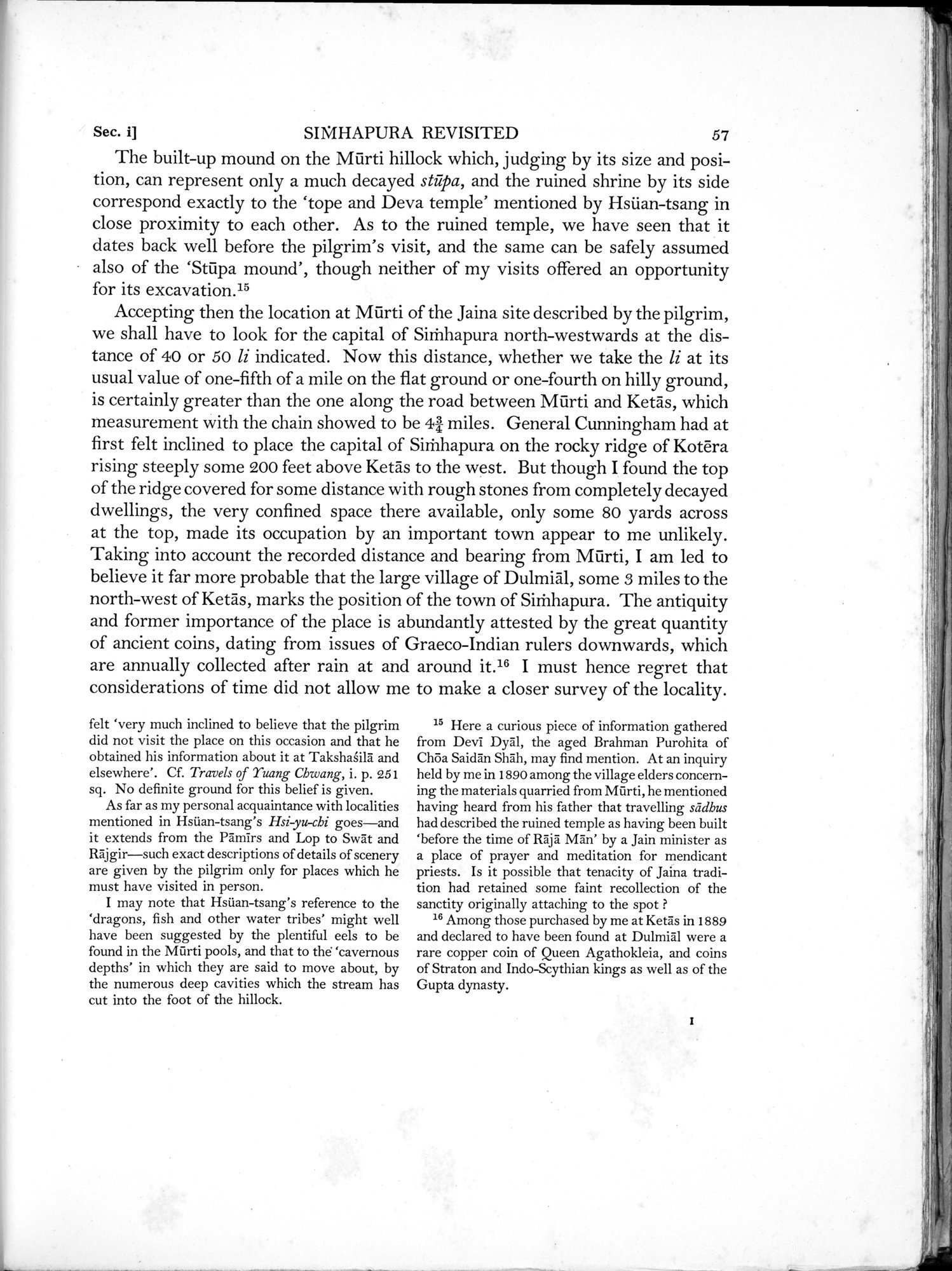 Archaeological Reconnaissances in North-Western India and South-Eastern Īrān : vol.1 / Page 101 (Grayscale High Resolution Image)
