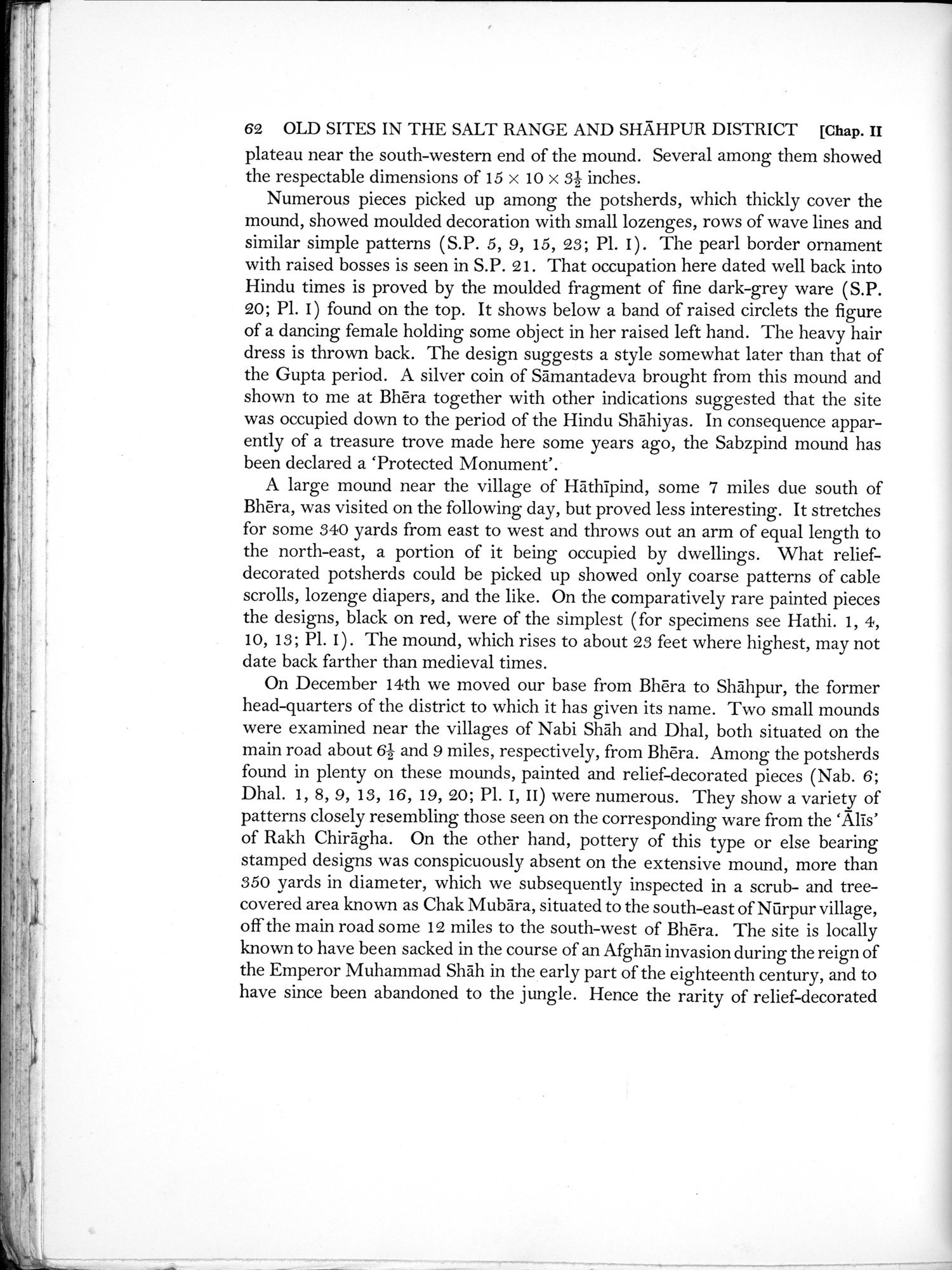Archaeological Reconnaissances in North-Western India and South-Eastern Īrān : vol.1 / Page 106 (Grayscale High Resolution Image)