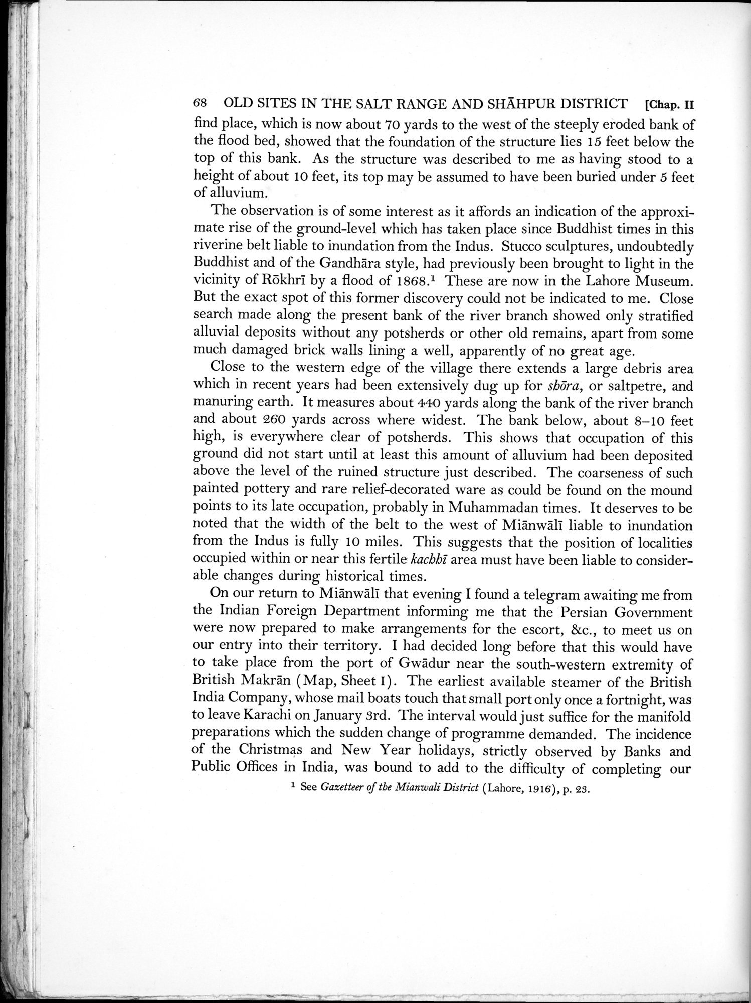 Archaeological Reconnaissances in North-Western India and South-Eastern Īrān : vol.1 / Page 112 (Grayscale High Resolution Image)