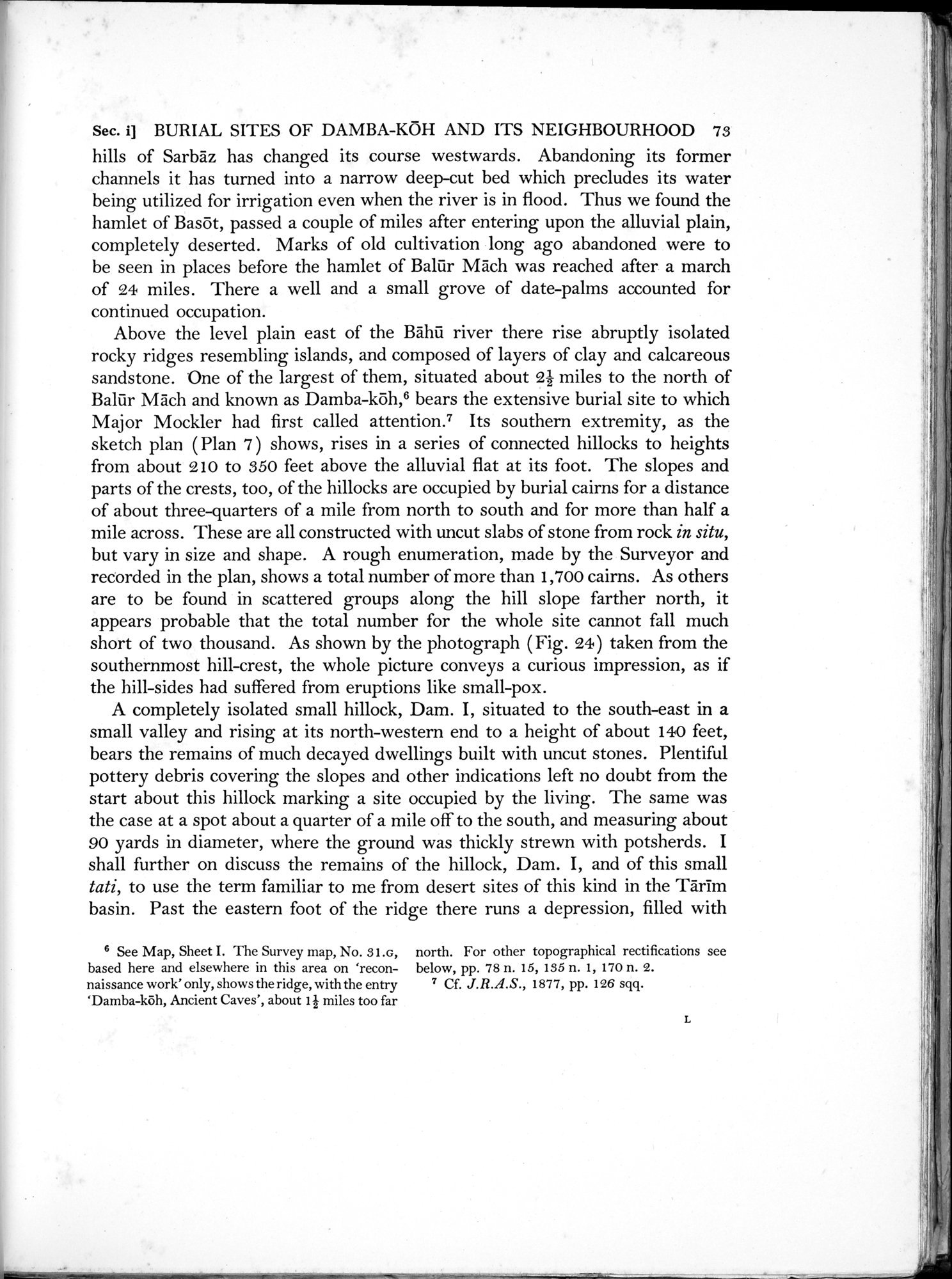 Archaeological Reconnaissances in North-Western India and South-Eastern Īrān : vol.1 / Page 119 (Grayscale High Resolution Image)