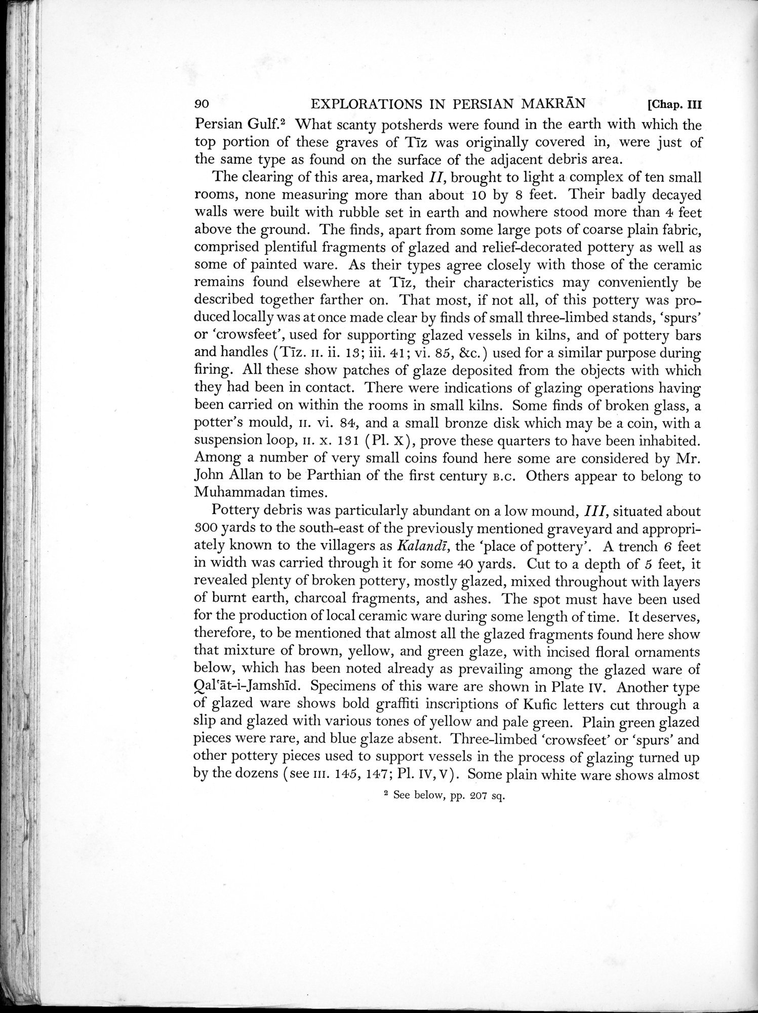 Archaeological Reconnaissances in North-Western India and South-Eastern Īrān : vol.1 / Page 138 (Grayscale High Resolution Image)