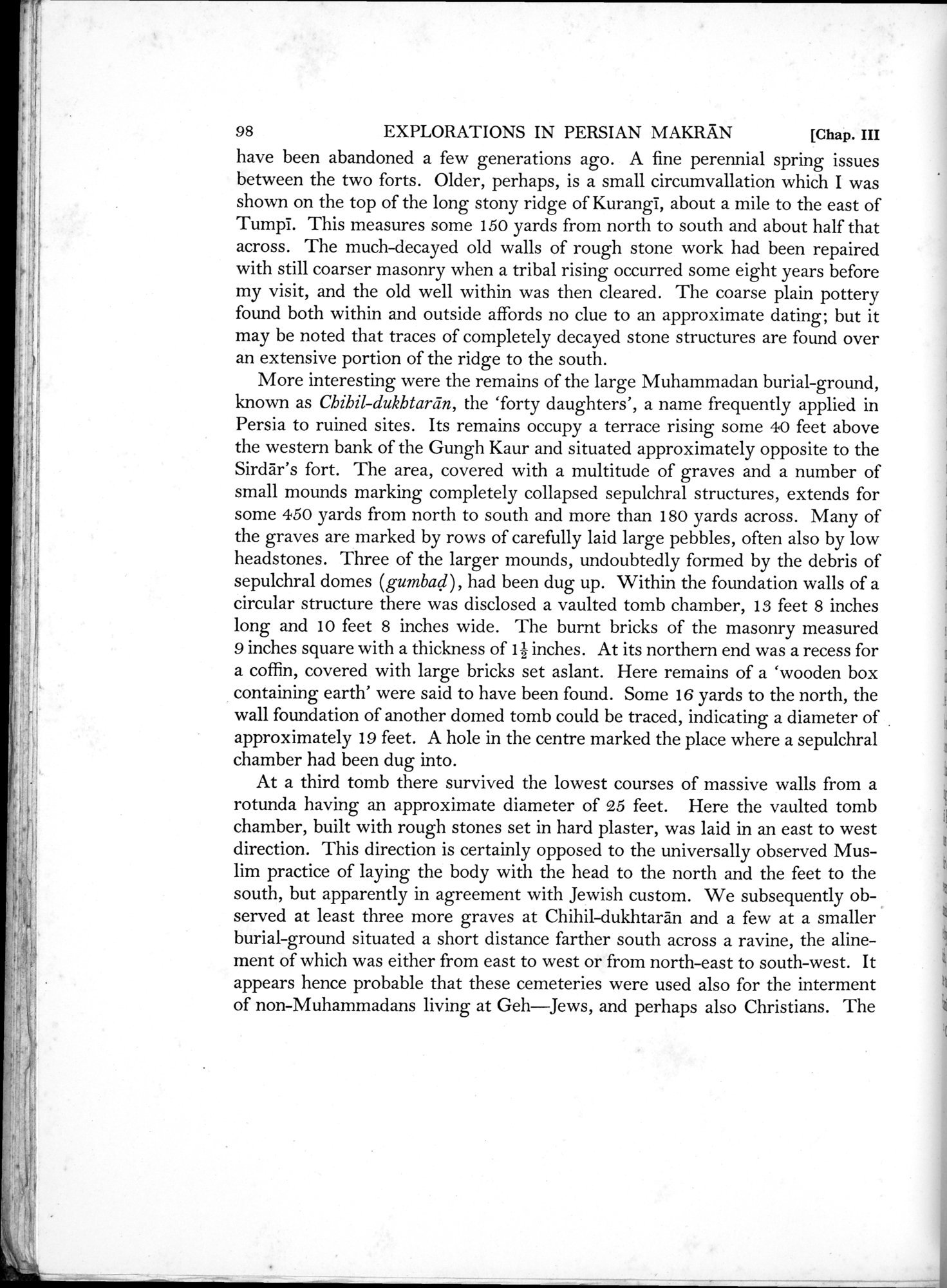 Archaeological Reconnaissances in North-Western India and South-Eastern Īrān : vol.1 / Page 148 (Grayscale High Resolution Image)