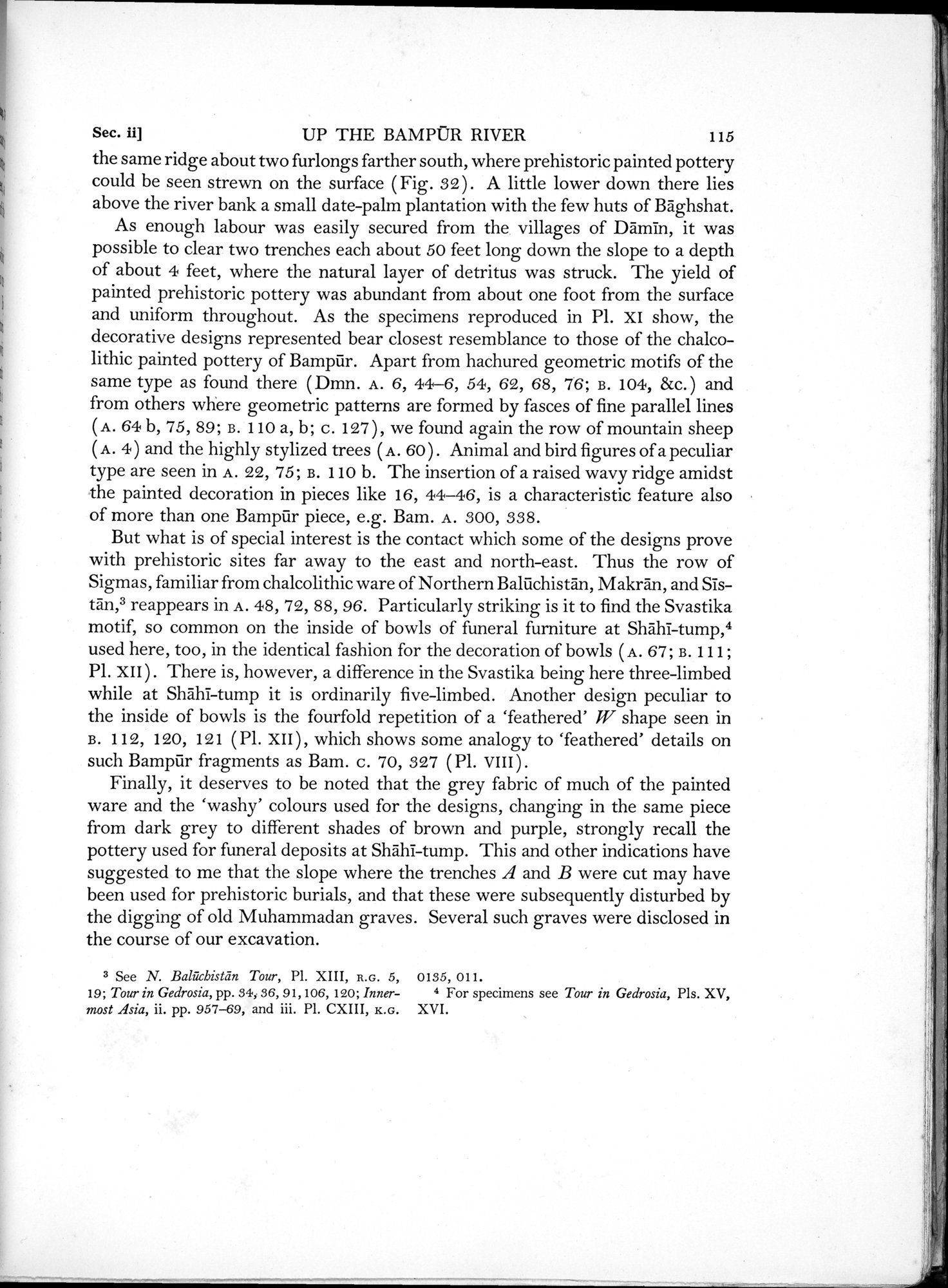 Archaeological Reconnaissances in North-Western India and South-Eastern Īrān : vol.1 / Page 167 (Grayscale High Resolution Image)