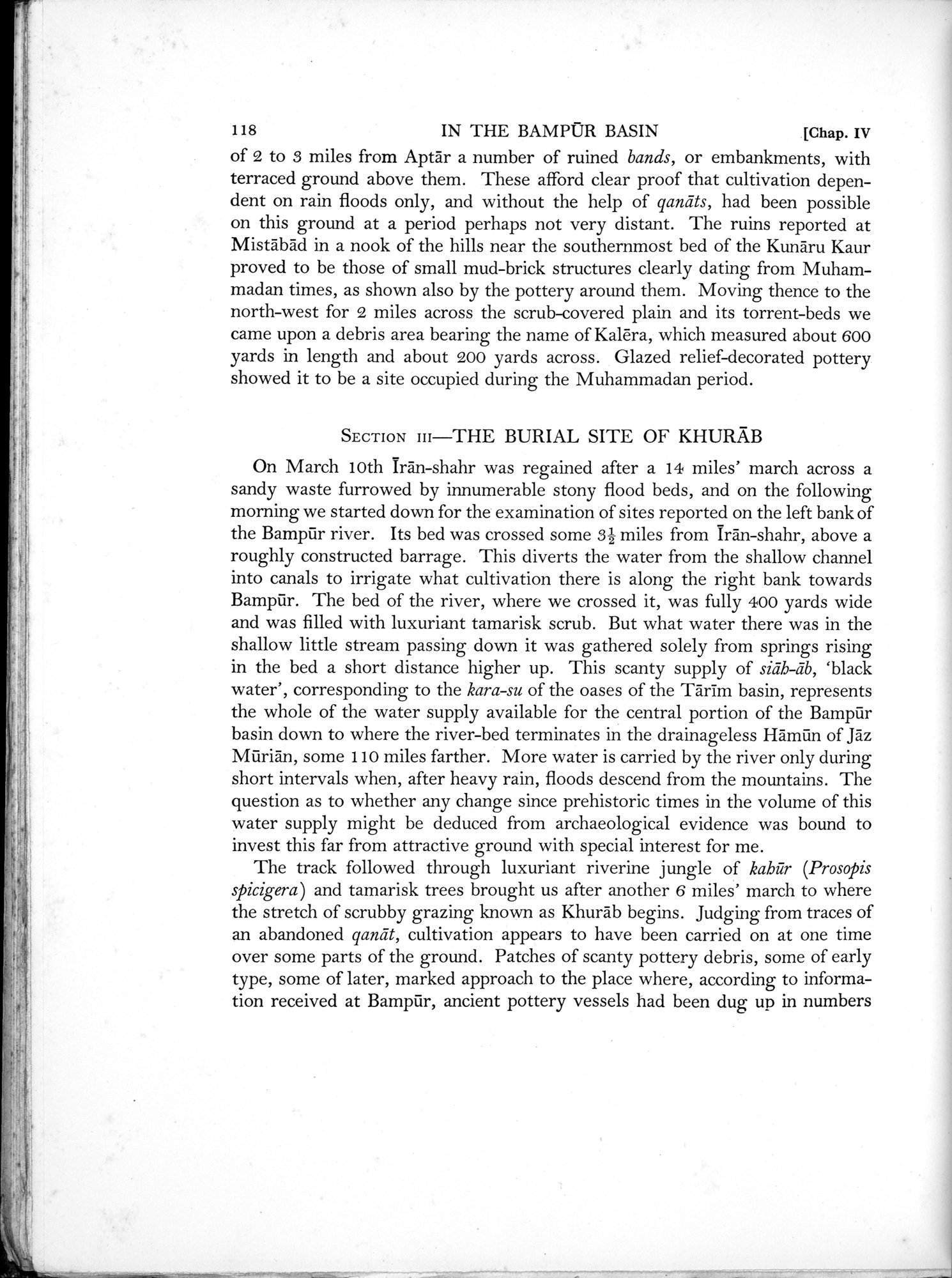 Archaeological Reconnaissances in North-Western India and South-Eastern Īrān : vol.1 / Page 170 (Grayscale High Resolution Image)