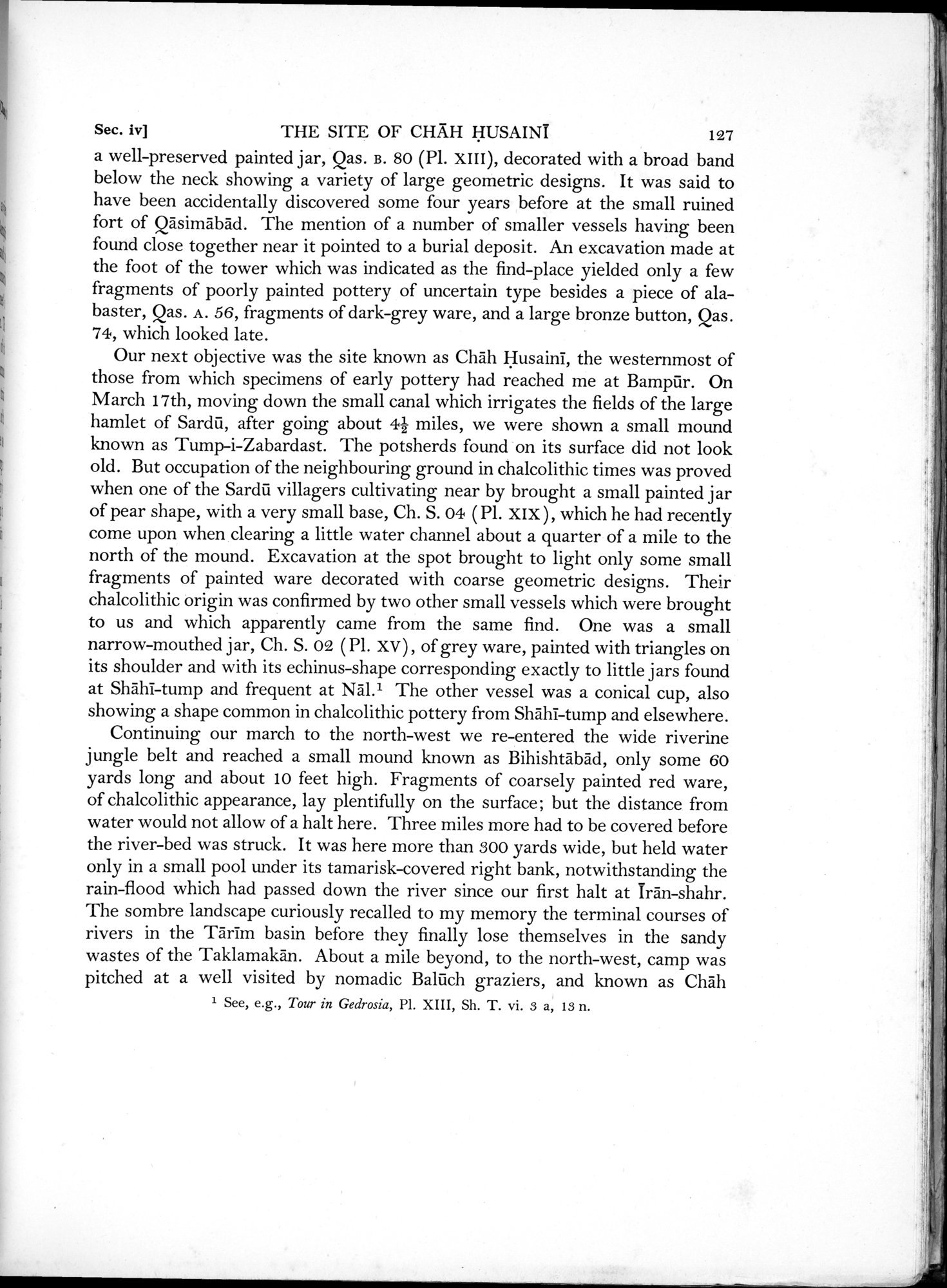 Archaeological Reconnaissances in North-Western India and South-Eastern Īrān : vol.1 / Page 181 (Grayscale High Resolution Image)