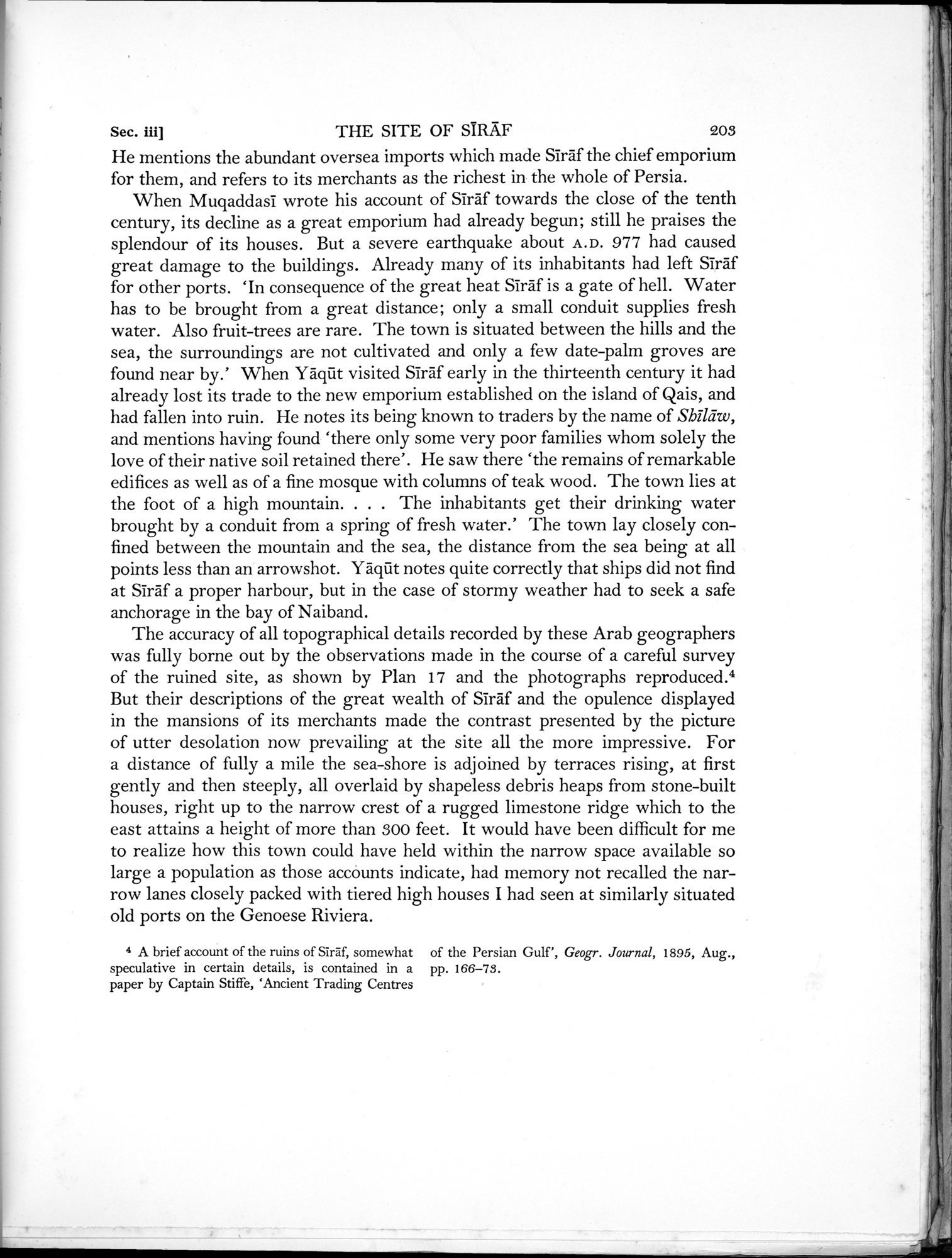 Archaeological Reconnaissances in North-Western India and South-Eastern Īrān : vol.1 / Page 271 (Grayscale High Resolution Image)