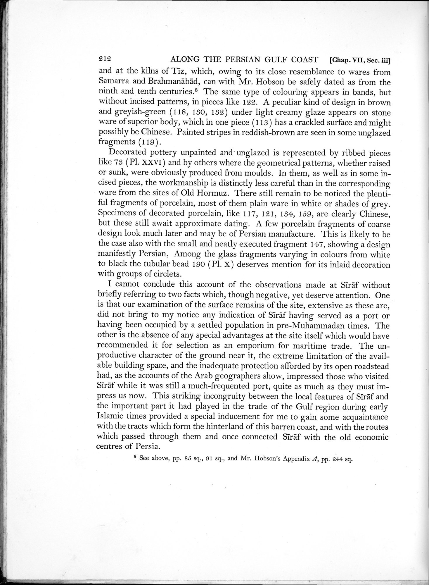 Archaeological Reconnaissances in North-Western India and South-Eastern Īrān : vol.1 / Page 288 (Grayscale High Resolution Image)