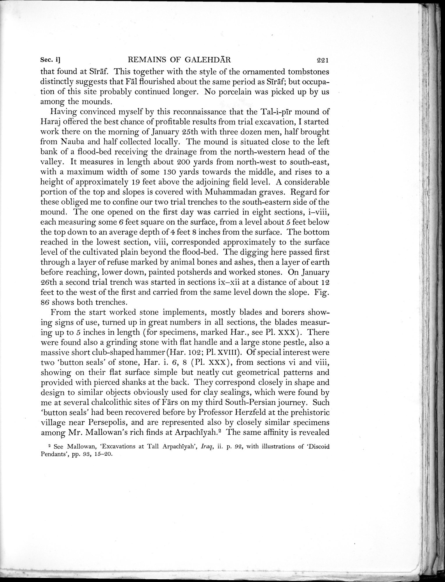 Archaeological Reconnaissances in North-Western India and South-Eastern Īrān : vol.1 / Page 303 (Grayscale High Resolution Image)
