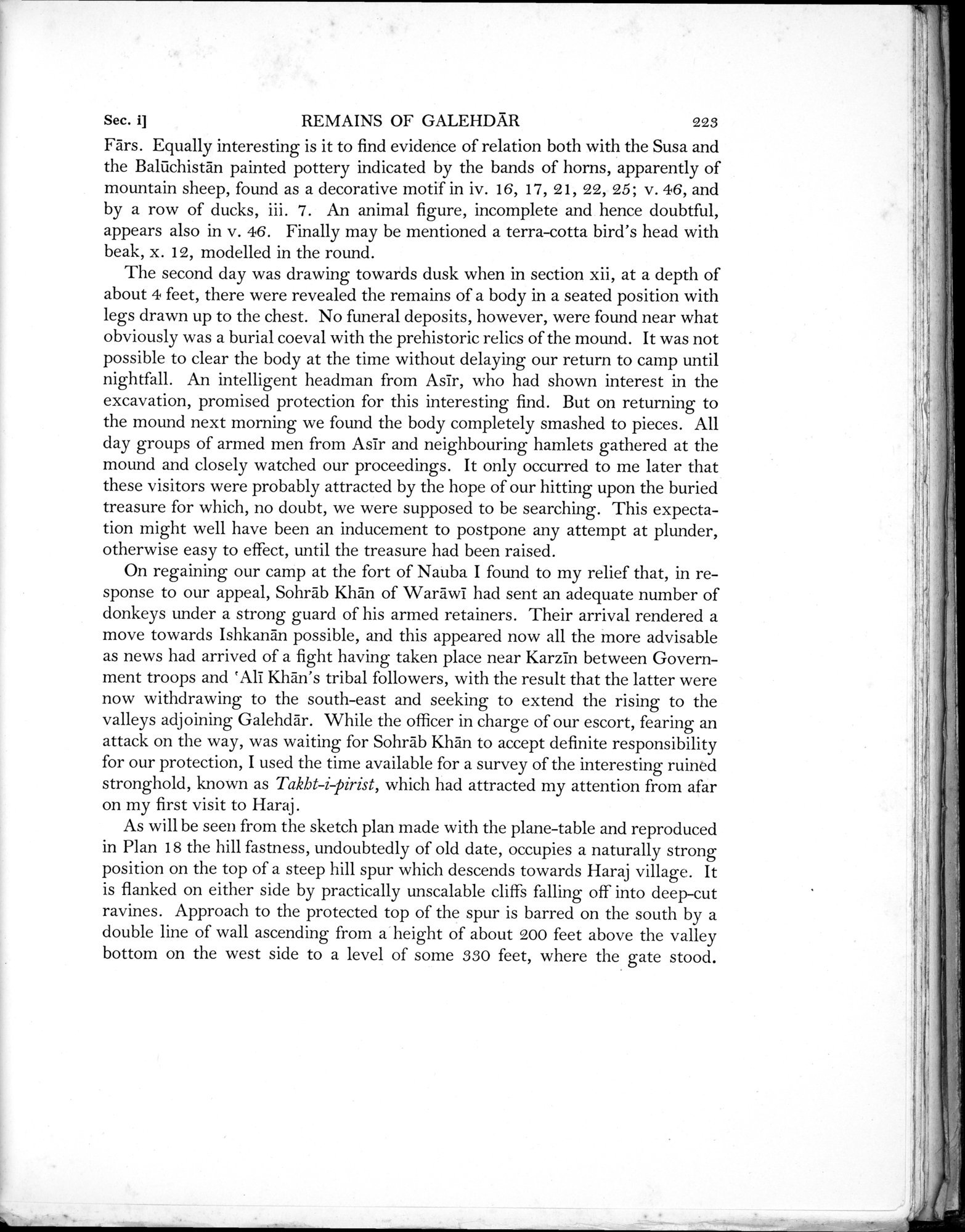 Archaeological Reconnaissances in North-Western India and South-Eastern Īrān : vol.1 / Page 305 (Grayscale High Resolution Image)