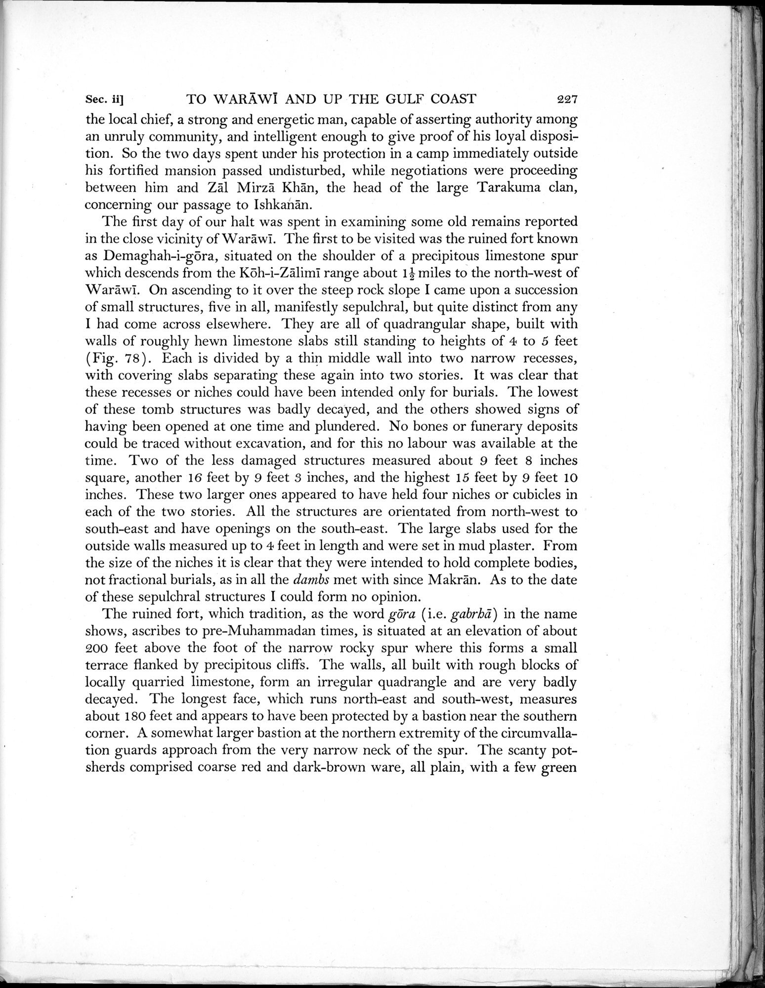 Archaeological Reconnaissances in North-Western India and South-Eastern Īrān : vol.1 / Page 309 (Grayscale High Resolution Image)